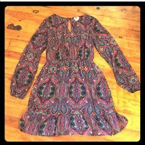 One Clothing Long sleeve boho dress